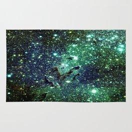 Green Eagle Nebula / Pillars of Creation Rug