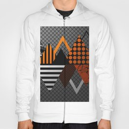 Industrial Geometry - Metallic, geometric, bronze, silver and gold, textured, patterned artwork Hoody