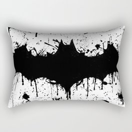 Bat Man Splatter Rectangular Pillow