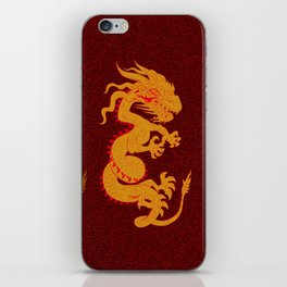 Golden Dragon Pattern iPhone Skin