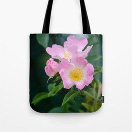Pink Flower Bush Tote Bag