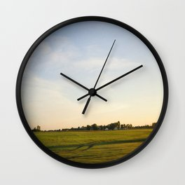 Midwest Fields Sunrise Wall Clock