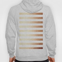 Simply Striped Deep Bronze Amber Hoody