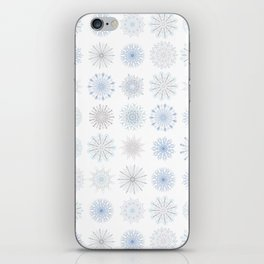 Light Snowfall, snowflakes in light blues and gray iPhone Skin