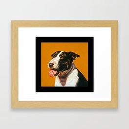 Panting Dog Framed Art Print