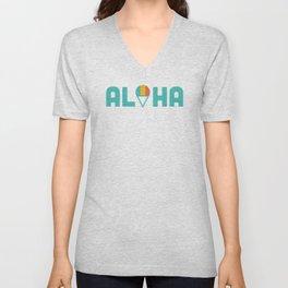Aloha Shave Ice Unisex V-Neck