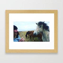 Horse Afield Live Framed Art Print