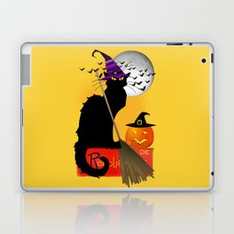 Le Chat Noir - Halloween Witch Laptop & iPad Skin