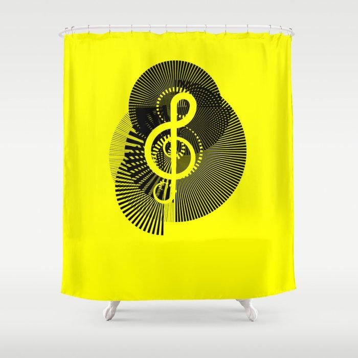 Clef Shower Curtain