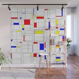 "Math Art Digital Print - ""mondRian"" Wall Mural"