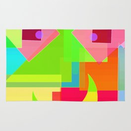 Abstract Geometry Face Rug