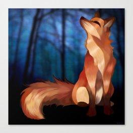 Wild At Heart Fox Canvas Print
