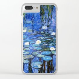 waterlilies a la Monet Clear iPhone Case