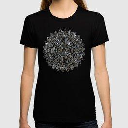 Aztec Mexican Silver Mandala T-shirt