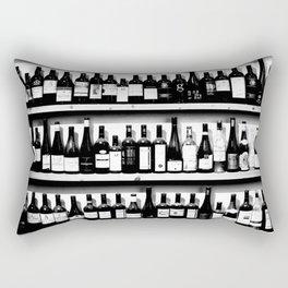 Wine Bottles in Black And White #society6 #decor Rectangular Pillow