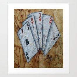 Coffee & Cards Art Print
