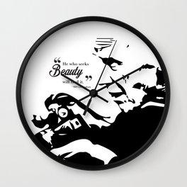 """Bill Cunningham: """"He who seeks beauty will find it"""" Wall Clock"""