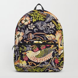 William Morris Strawberry Thief Art Nouveau Painting Backpack