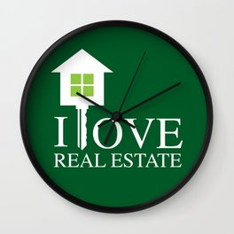 I LOVE REAL ESTATE Wall Clock