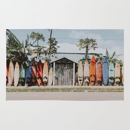 lets surf vi / maui, hawaii Rug