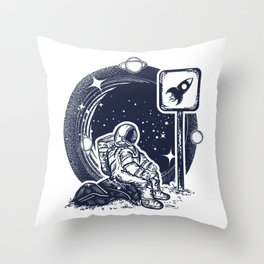 Astronaut in space Throw Pillow