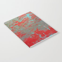 texture - aqua and red paint Notebook