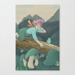 Mushroom Dreams on Mountainscapes Canvas Print