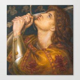 Joan of Arc by Dante Gabriel Rossetti, 1864 Canvas Print