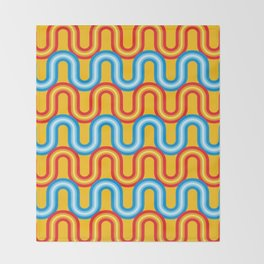 Neon Tubes Throw Blanket