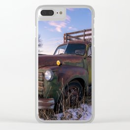 Abandoned Farm Truck Clear iPhone Case