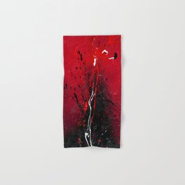 Rising - abstract painting by Rasko Hand & Bath Towel