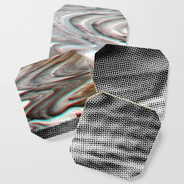 White Noise / Landscape / Gold Glitch #3 Coaster