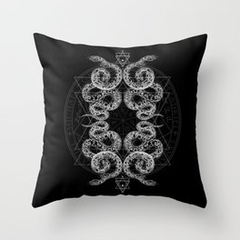 BigGodSerpent Throw Pillow
