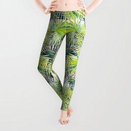 Tropical Frond Pattern Leggings