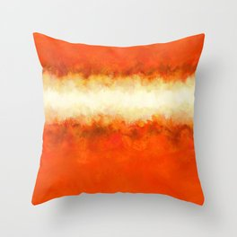 Tangerine Sunshine Throw Pillow