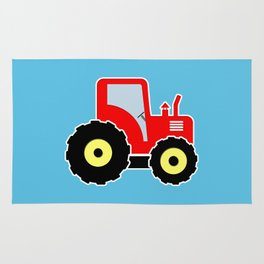 Red toy tractor Rug