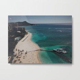 Waikiki Views From The Sky Metal Print
