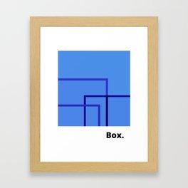 Box. Framed Art Print