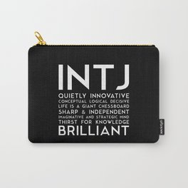 INTJ (black version) Carry-All Pouch