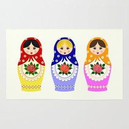 Russian matryoshka nesting dolls Rug