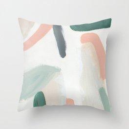 Pastel Pumpkin Patch Throw Pillow