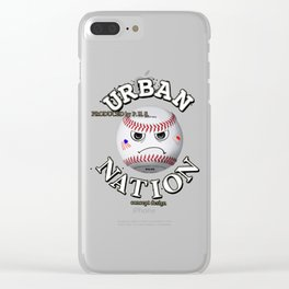 Baseball fun character Clear iPhone Case