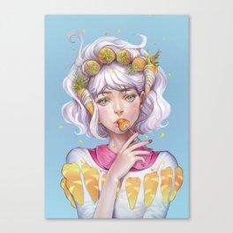 fibersugary-carrothead Canvas Print