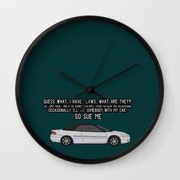 SO SUE ME Wall Clock