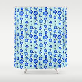 Baby Blue Wildflower Shower Curtain