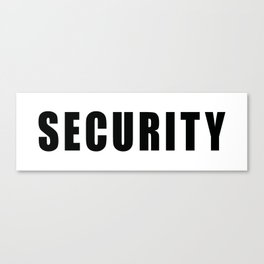 SECURITY TEE SHIRT inverse edition Canvas Print