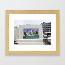 Greetings From Waterbury Framed Art Print