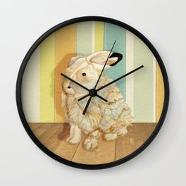Arctic Hare In The Playroom Wall Clock