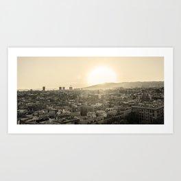 Barcelona Cityline Art Print