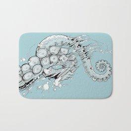 Cephalopodic Swipe (linework) Bath Mat